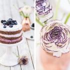 Brombeer-Blaubeer-Torte im Ombre-Look