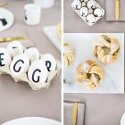 Design Letters, etwas Gold und Marmor für eine stilvolle Ostertafel