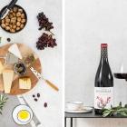 Wein und Käse im Herbst