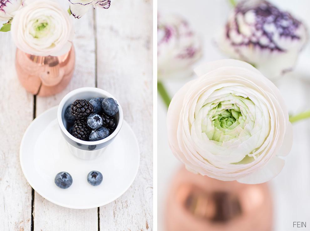 Bromeer-Blaubeer-Torte Ranunkel Heidelbeer Brombeer Torte