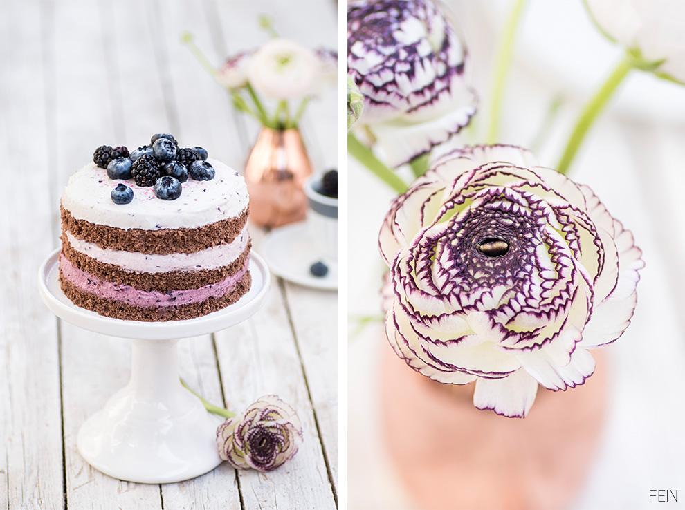 Brombeer-Blaubeer-Torte Schokoladenbeerentorte Heidelbeer Brombeer Torte