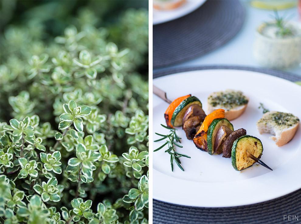 Grillen Kräuter Gemüsespieße