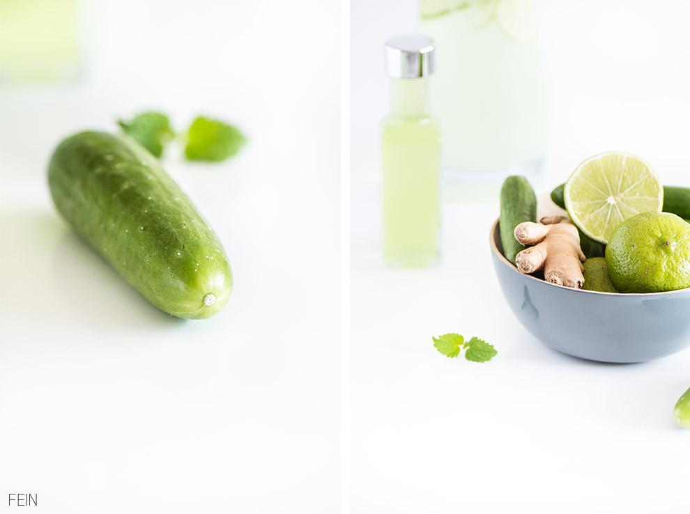 Gurken Limetten Ingwer Zitronenmelisse