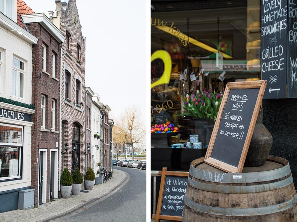 Holland Roermond Käse Tulpen Backsteinhäuser