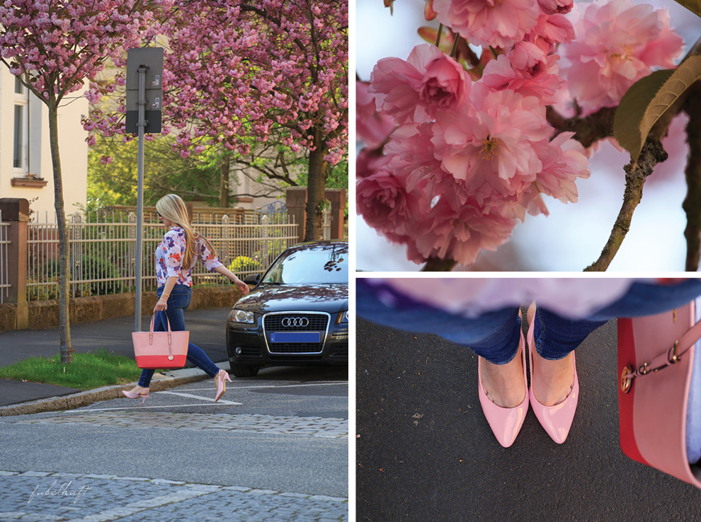 Kirschblüte Michael Kors Jetset Urban Street Style Chiffon Blossom