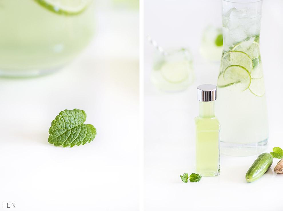 Limetten Gurken Sirup Zitronenmelisse
