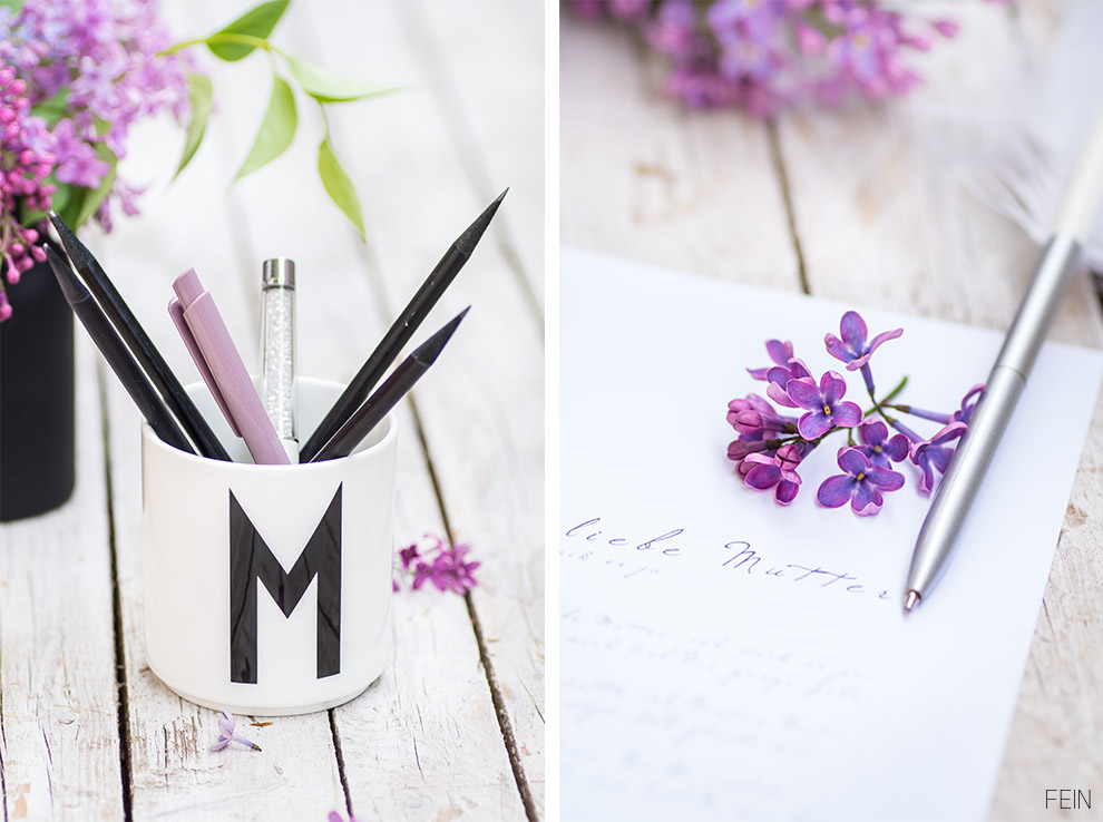 Muttertag Feder Design Letters Becher