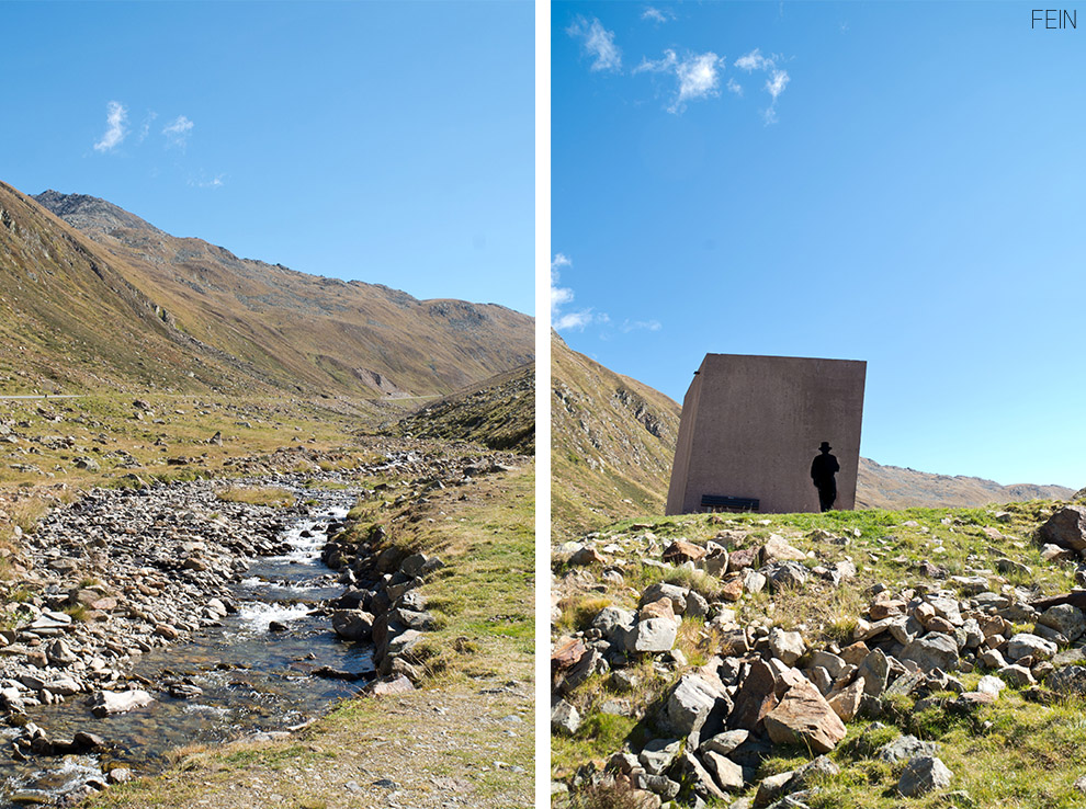 Schmuggler Architektur Skulptur Haltepunkt
