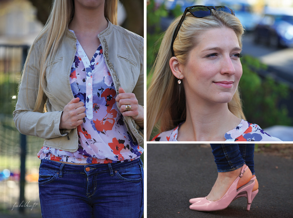 Slingback Pumps Nude Blue Denim Jeans Chiffon Urban Style