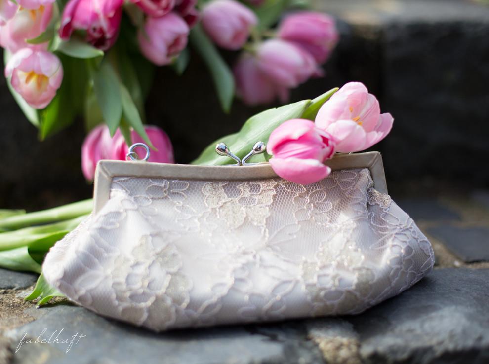 Clutch Abendtasche Spitze Tulpen