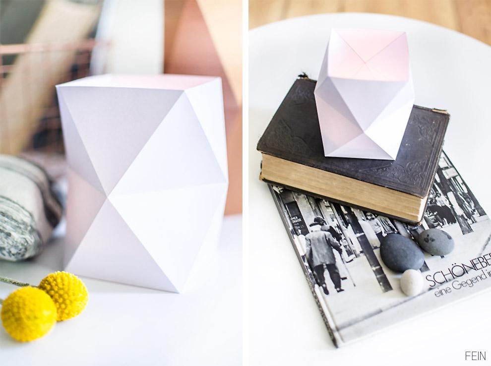 DIY Origami Faltvase weiß