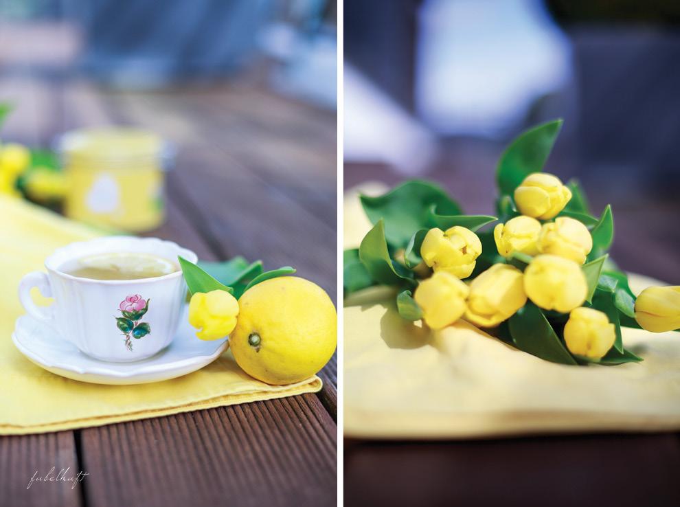 Lov Tee Tulpen Gelb Zitrone Ingwer
