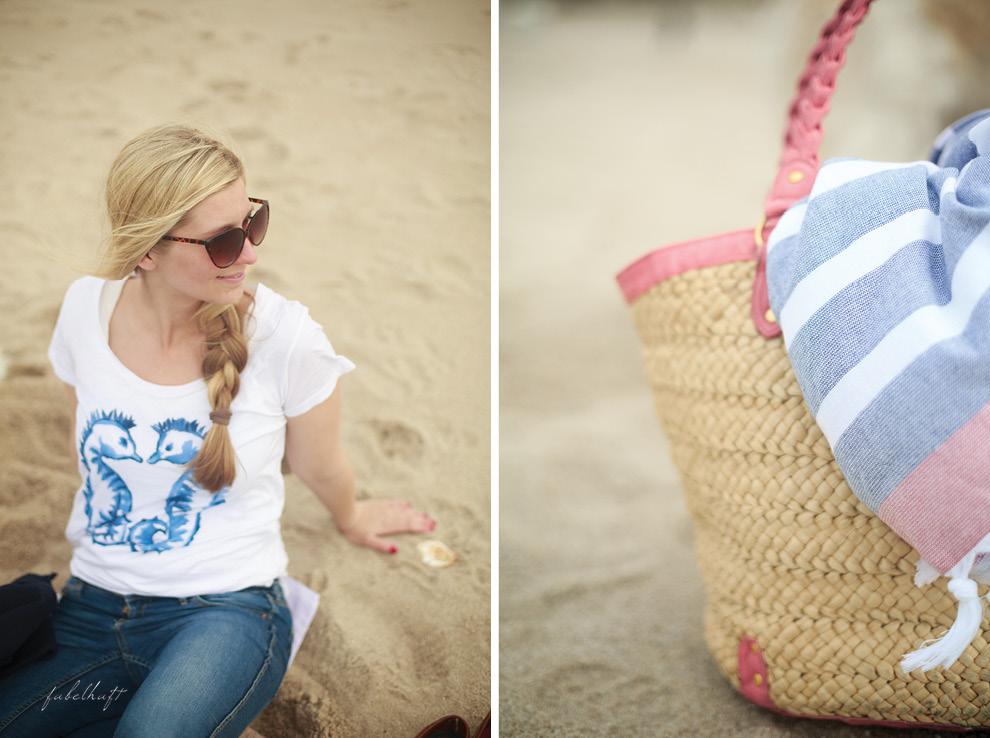 Sylt Strand Seepferdchen Cateye Sunglasses Strandtasche Strandlaken