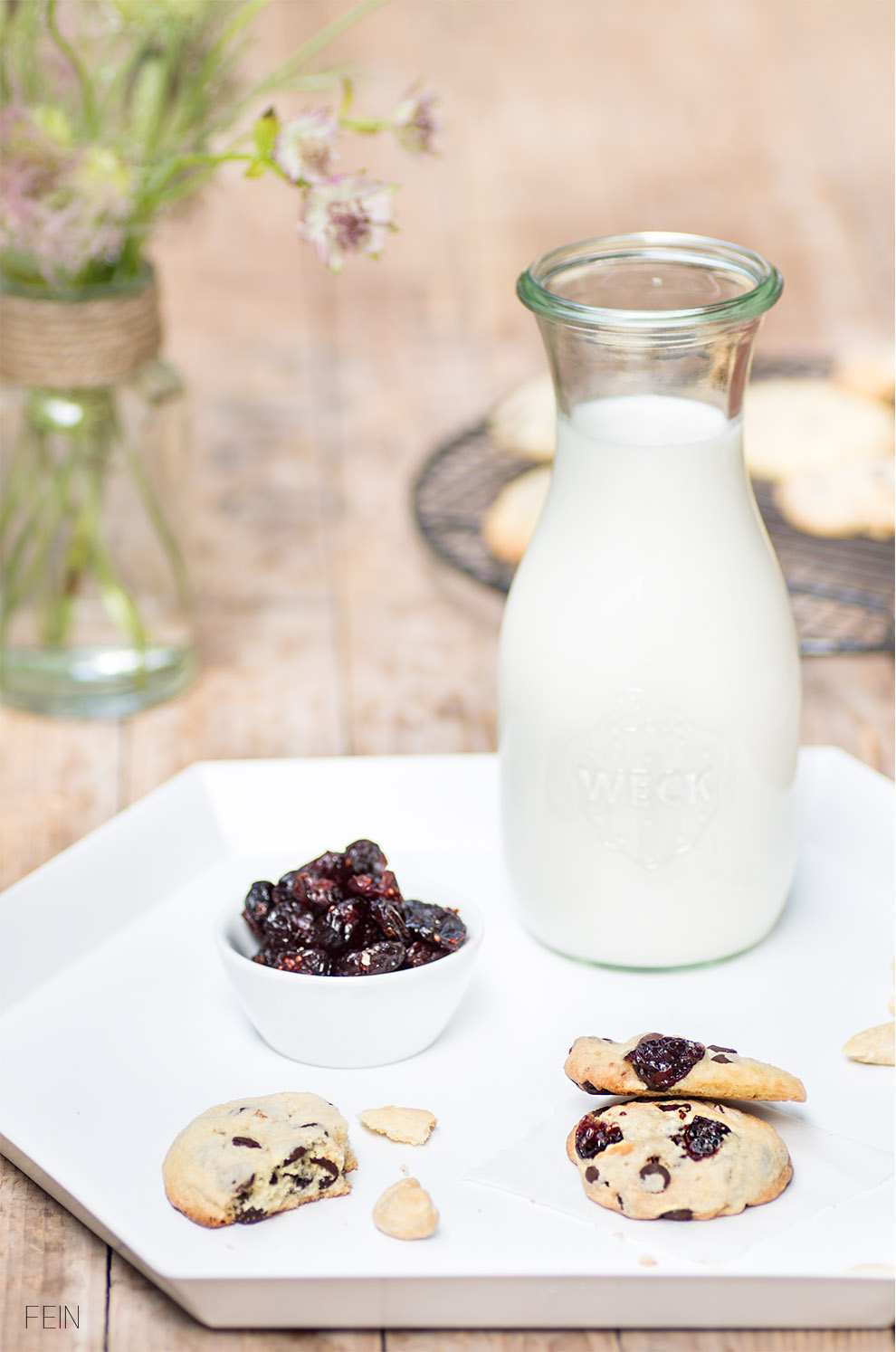 Cookies Berry Nuss Milch