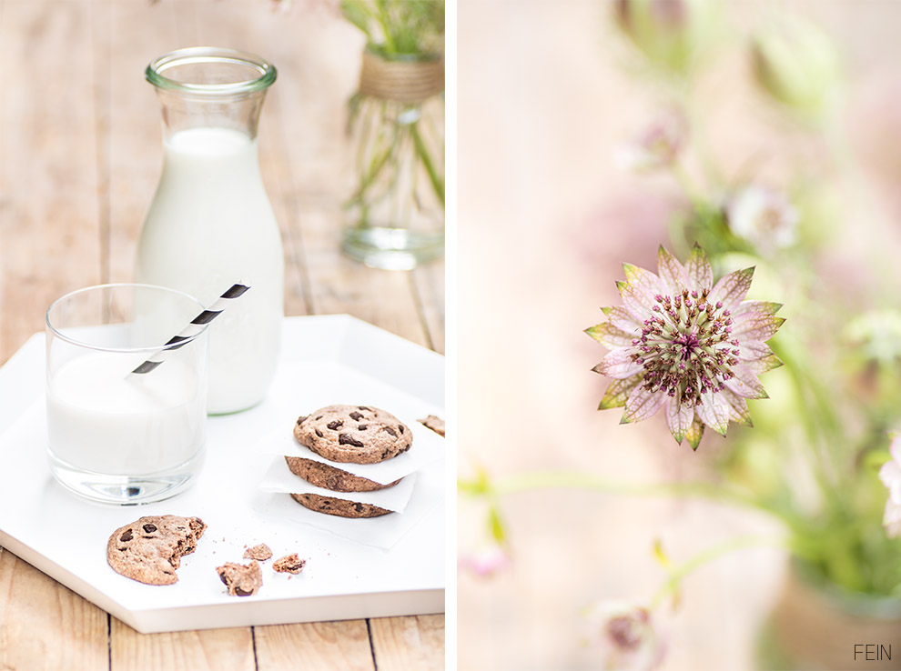 Cookies Tablett Milch