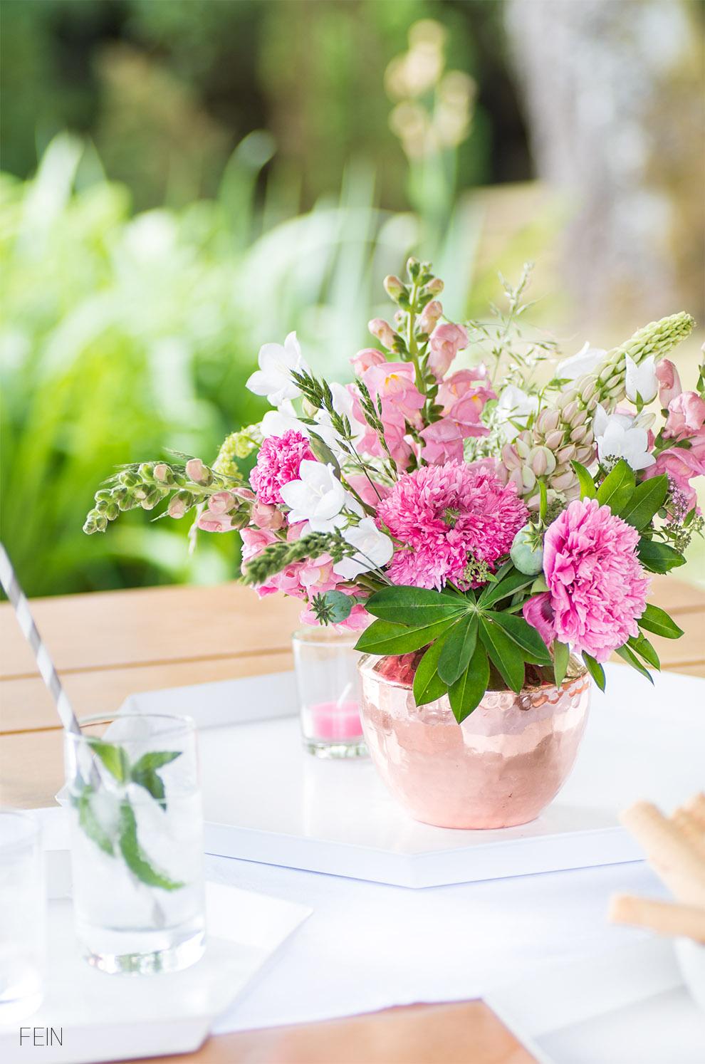 Land Sommer Blumenstrauß