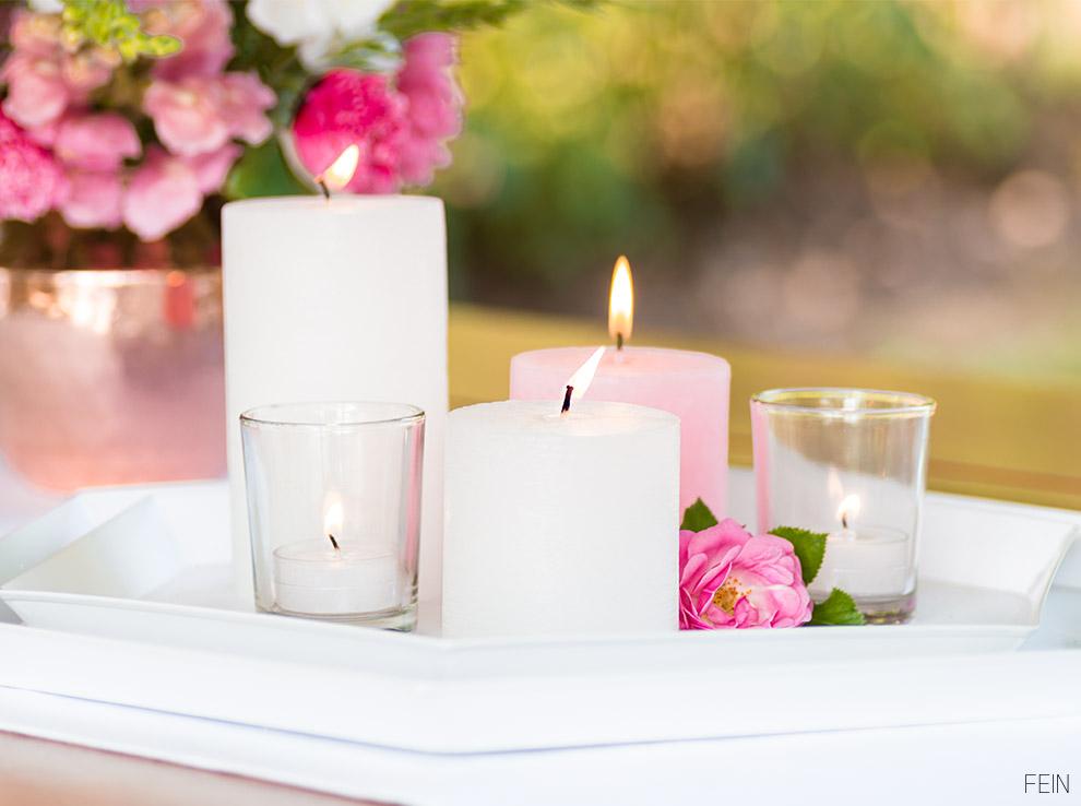 Land Sommer Kerzen Rose
