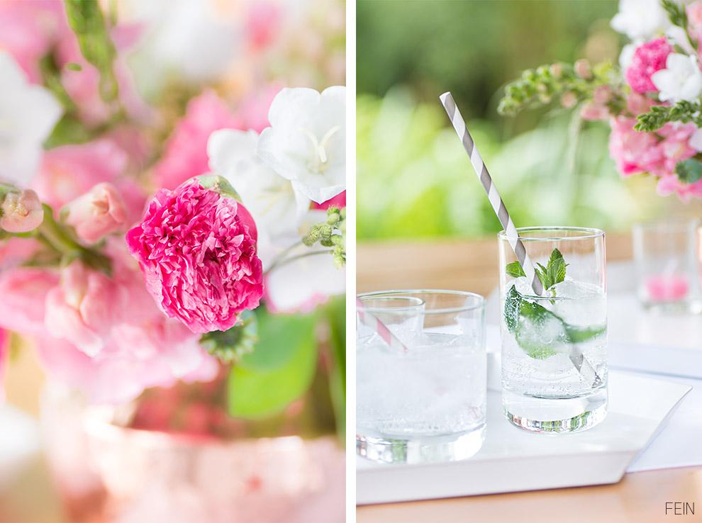 Land Sommer Minze Wasser