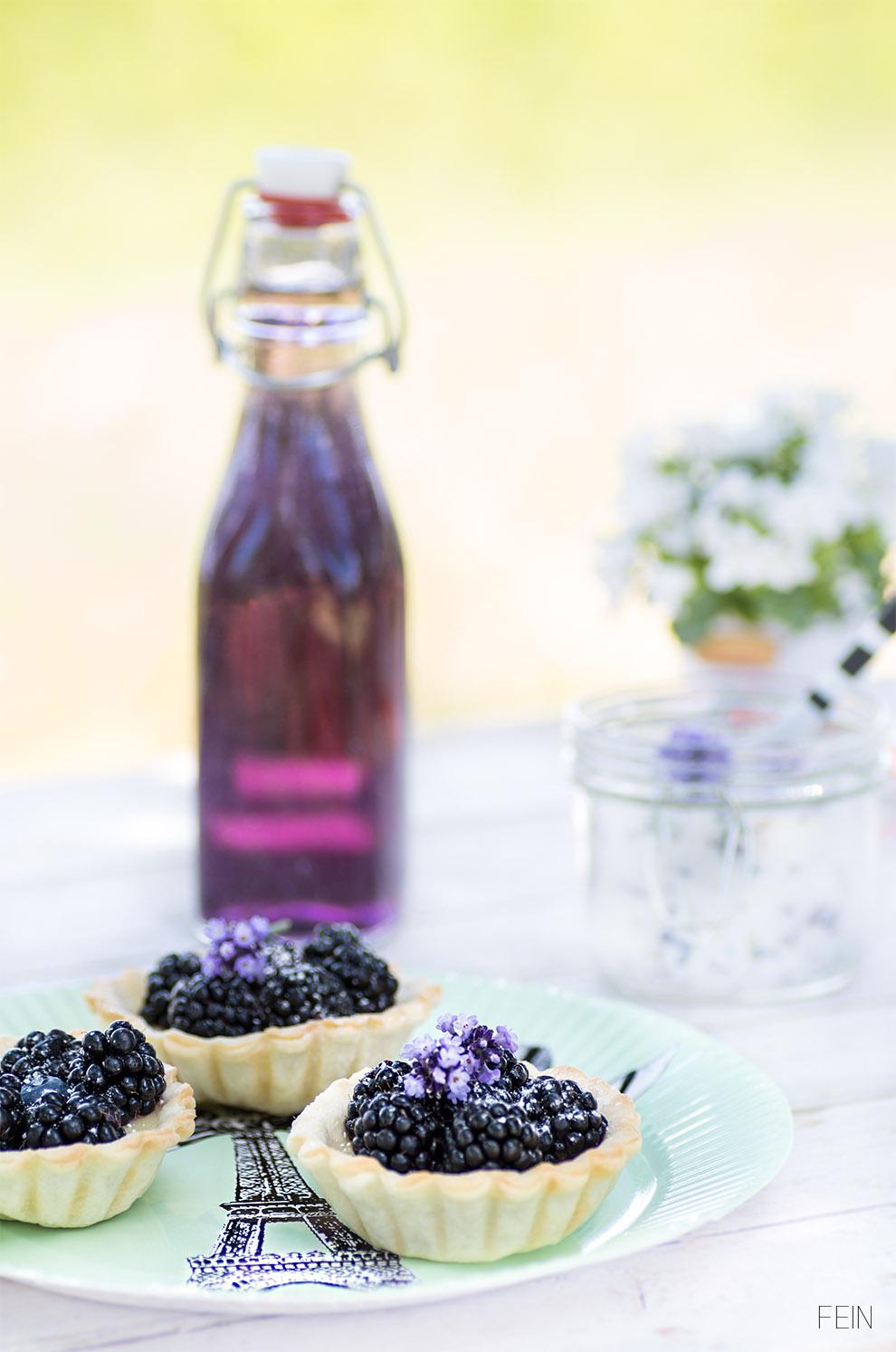 Lavendel Sirup Törtchen