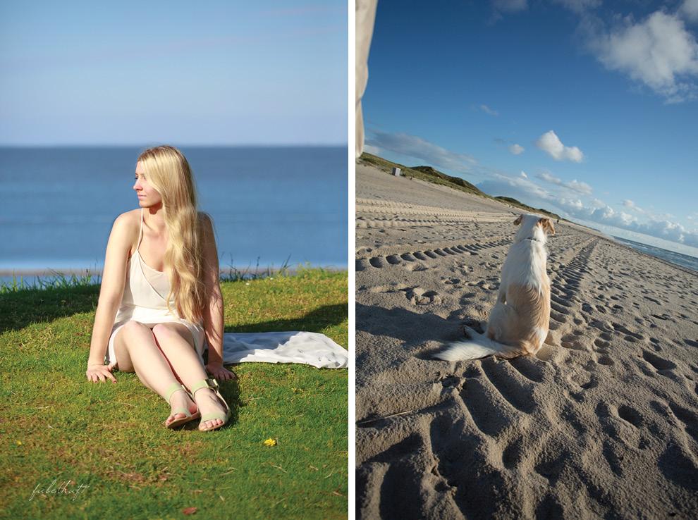Liz und Ophelia Zara Trafaluc Keitum Hörnum Sylt Wiesenstrand und Sandstrand