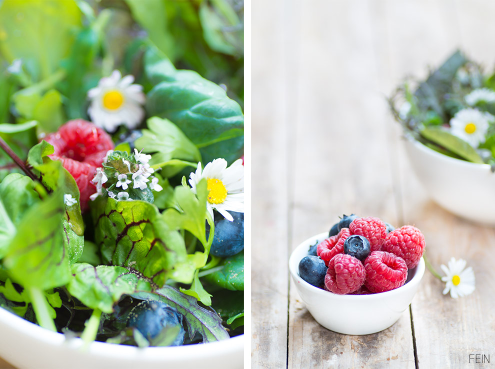 Salat Wildkräuter Pur Beeren