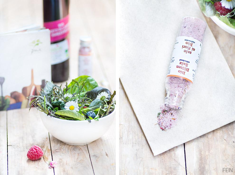 Salat Wildkräuter Pur Salz