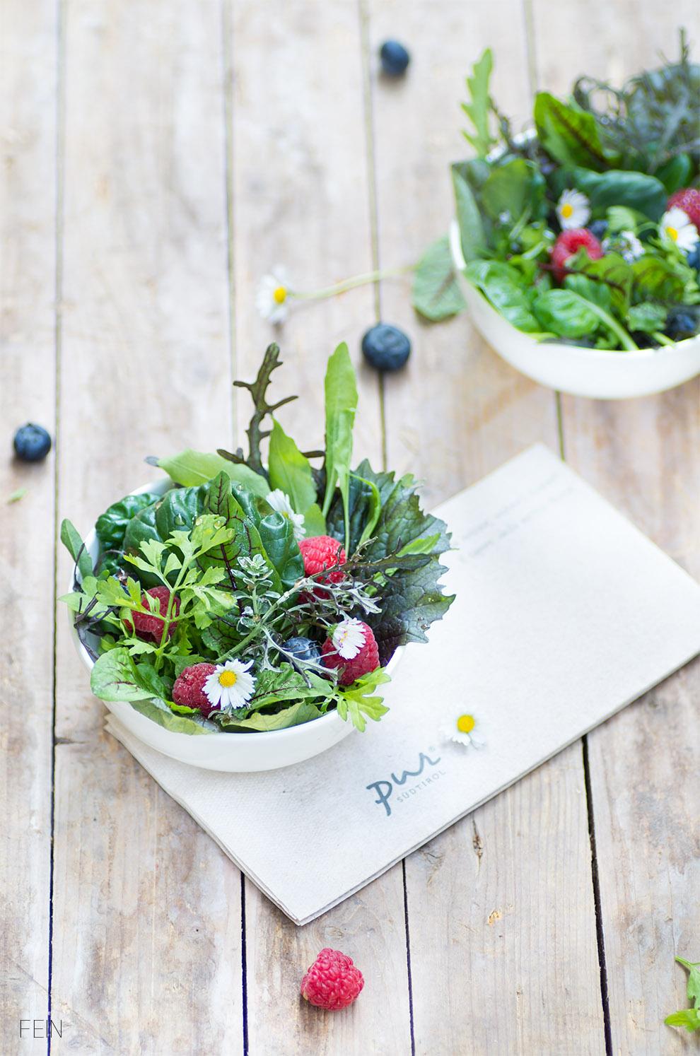 Salat Wildkräuter Pur Schüsselchen