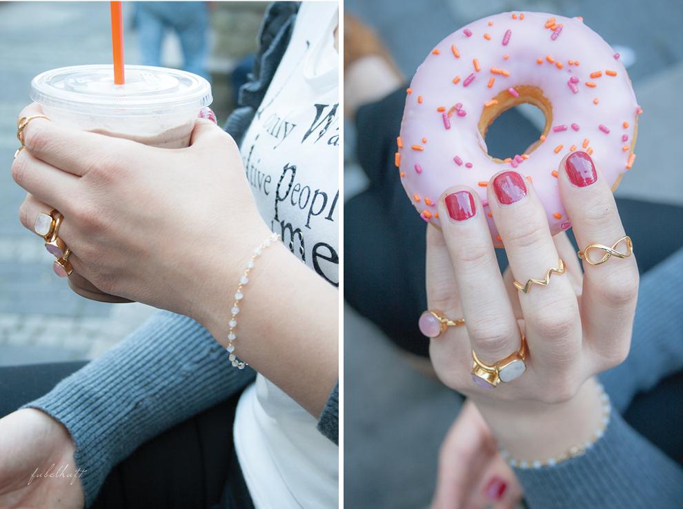 Mia&Martha Schmuck Gold Casual Ringe Armband Donut