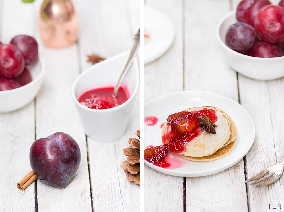 Pancakes Winter Pflaumenkompott