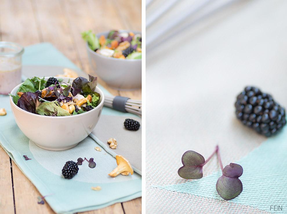 Schneebesen Pilze Salat Dressing