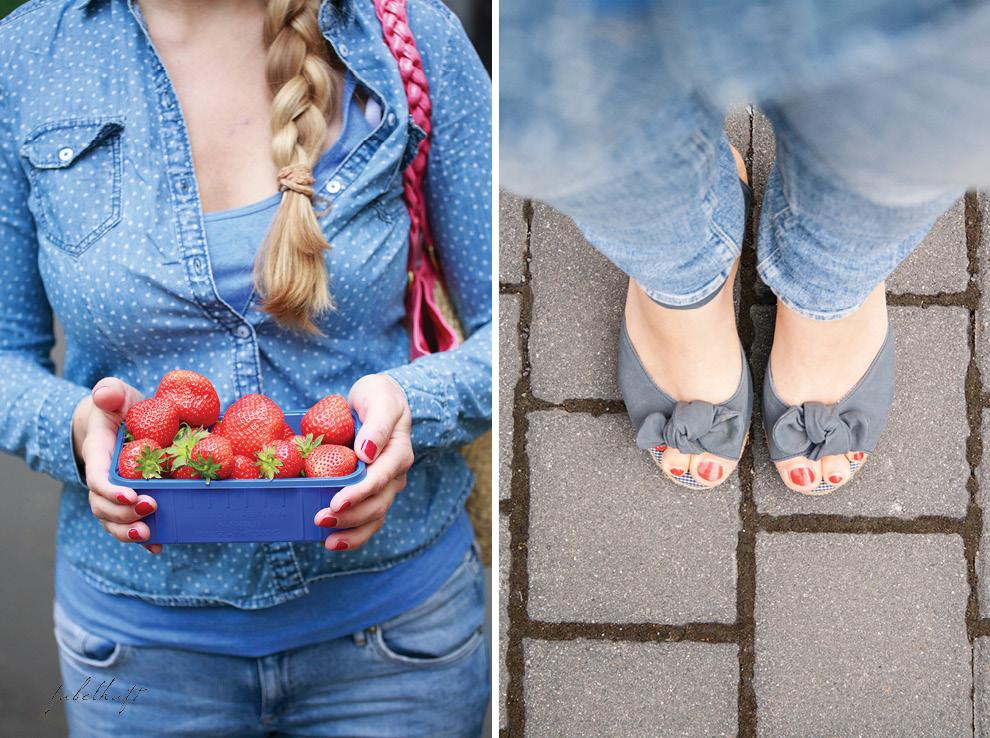 Shu Yao Demin on Demin Peeptoes Erdbeeren Wochenmarkt