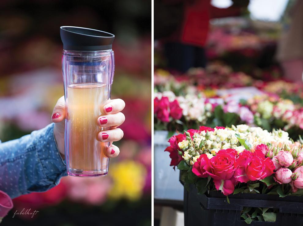 Shu Yao Tea To Go Concept Rosen Markt Wochenmarkt Freilandrosen