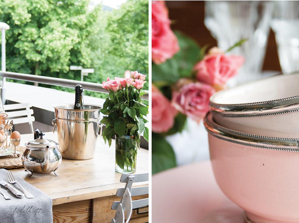 Kramik Silber Tableware englisches Teeservice Rosen Brunch