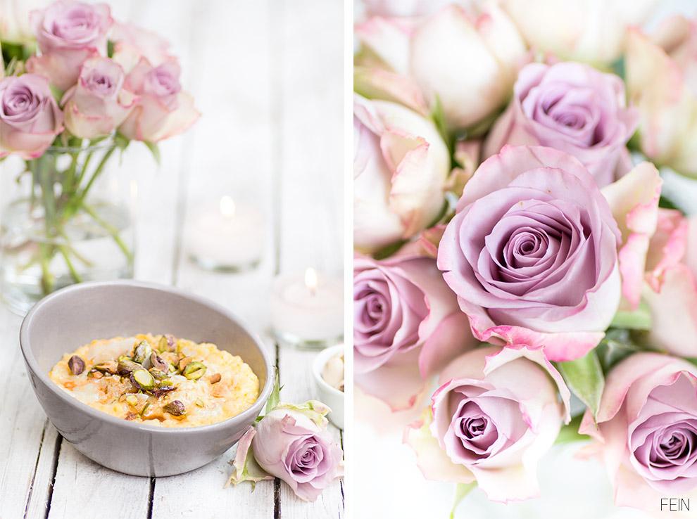 Milchreis Rosen lila