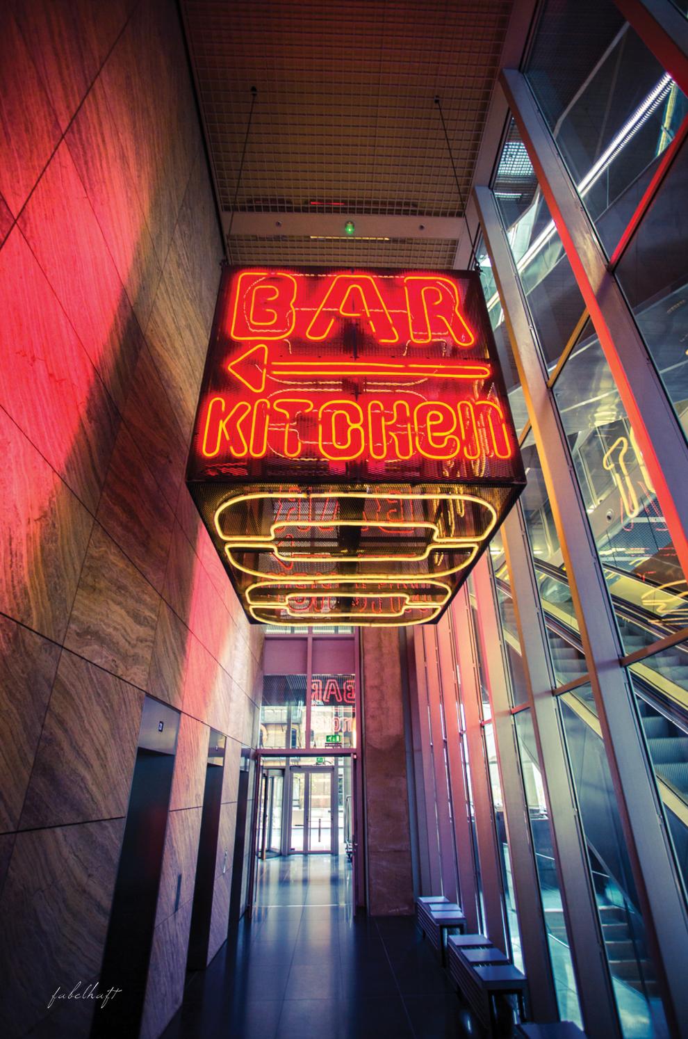 Nhow Hotel Bar Kitchen Architektur Beton De Rotterdam