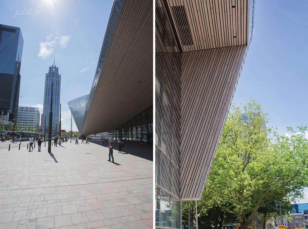 Rotterdam Centraal Hauptbahnhof Niederlande Citytravel Städtereise Architektur Tower Hochhaus
