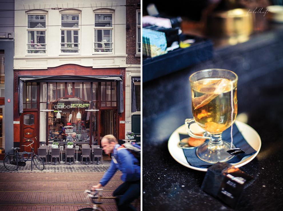 Rotterdam City Café Lunch Tee Elegant Einkaufsstraße