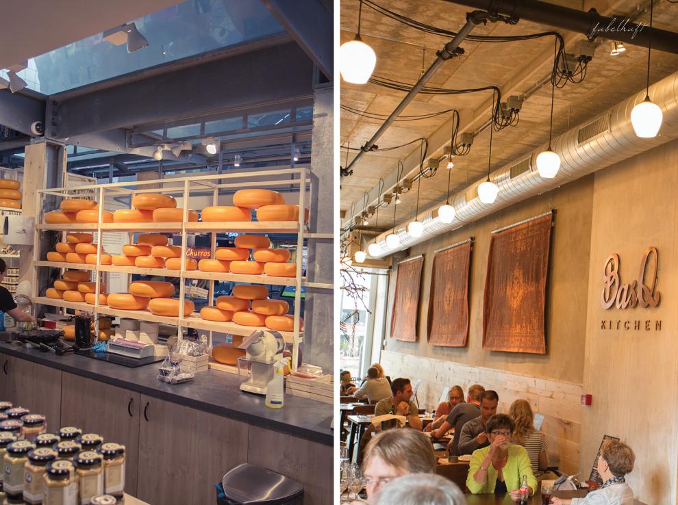 Rotterdam Markthalle Käsestand Café Städtereise Niederlande