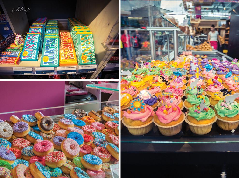 Rotterdam Markthalle Niederlande Sweets Cupcakes Donuts Schokolade