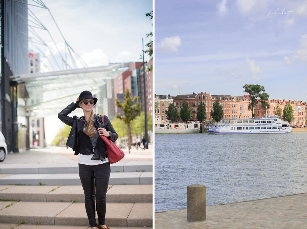 Rotterdam Städtereise Maas Hafen Outfit Kai