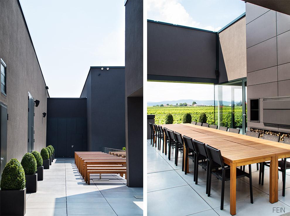 Wein minimalistische Architektur