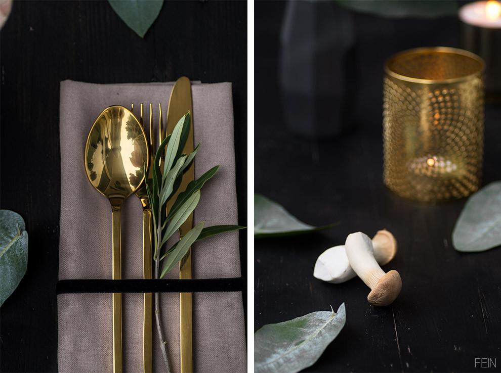Gold Besteck Liv Interior
