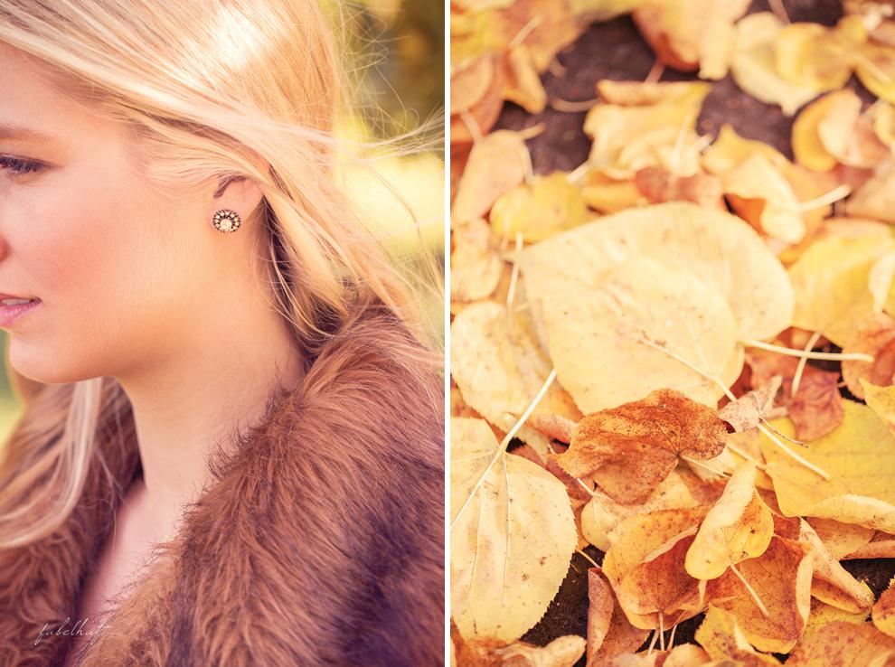 Herbstlaub Wald Fashion Mantel Blond Beige Gold