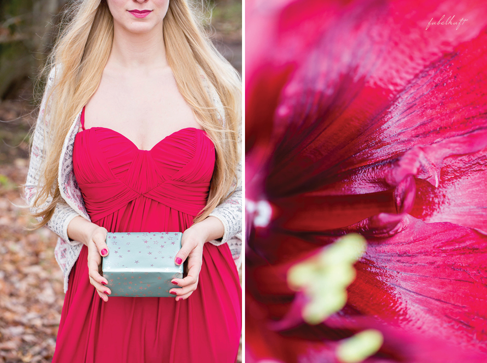 Christmas Xmas Weihnachtes Outfit Rotes Kleid Geschenkinspiration Lipstick Naturkosmetik Benecos