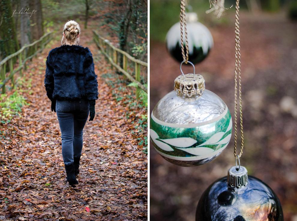 Christmas holiday fashion winter festliches outfit felljacke lange lederhandschuhe