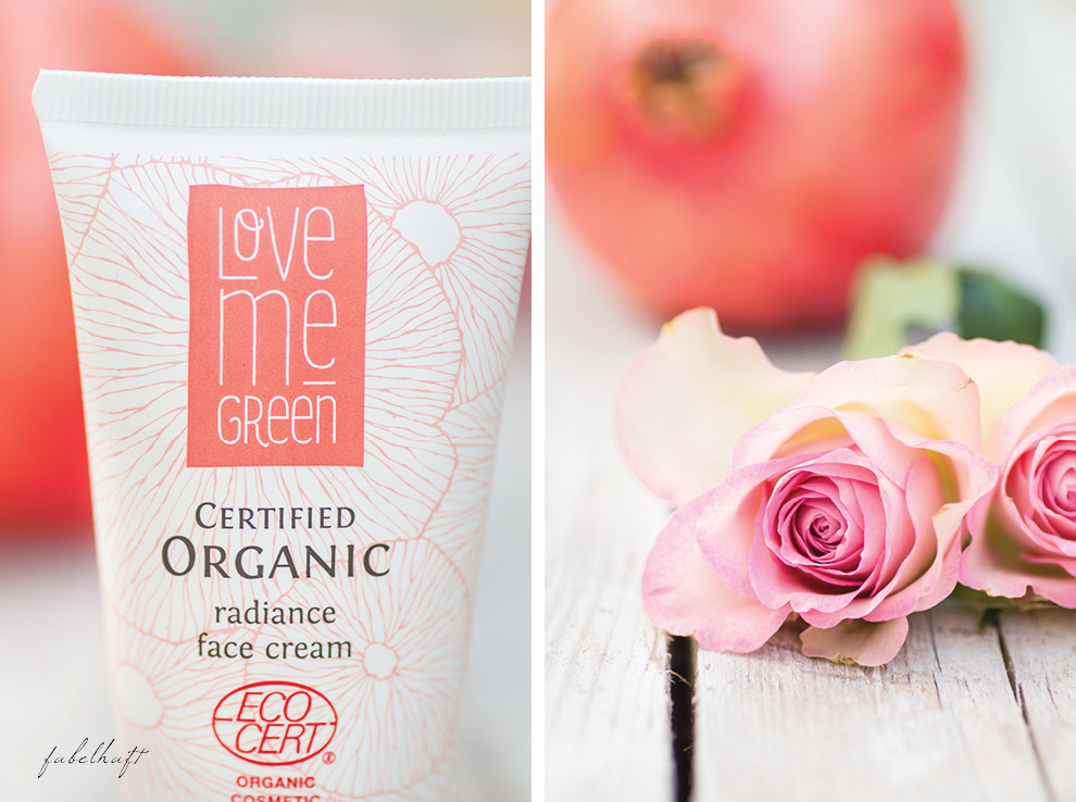 Love me Green Granatapfel radiance face cream lifting