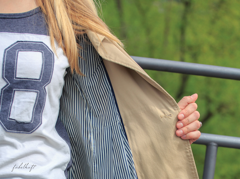 Trenchcoat Denim Rain Spring Blond
