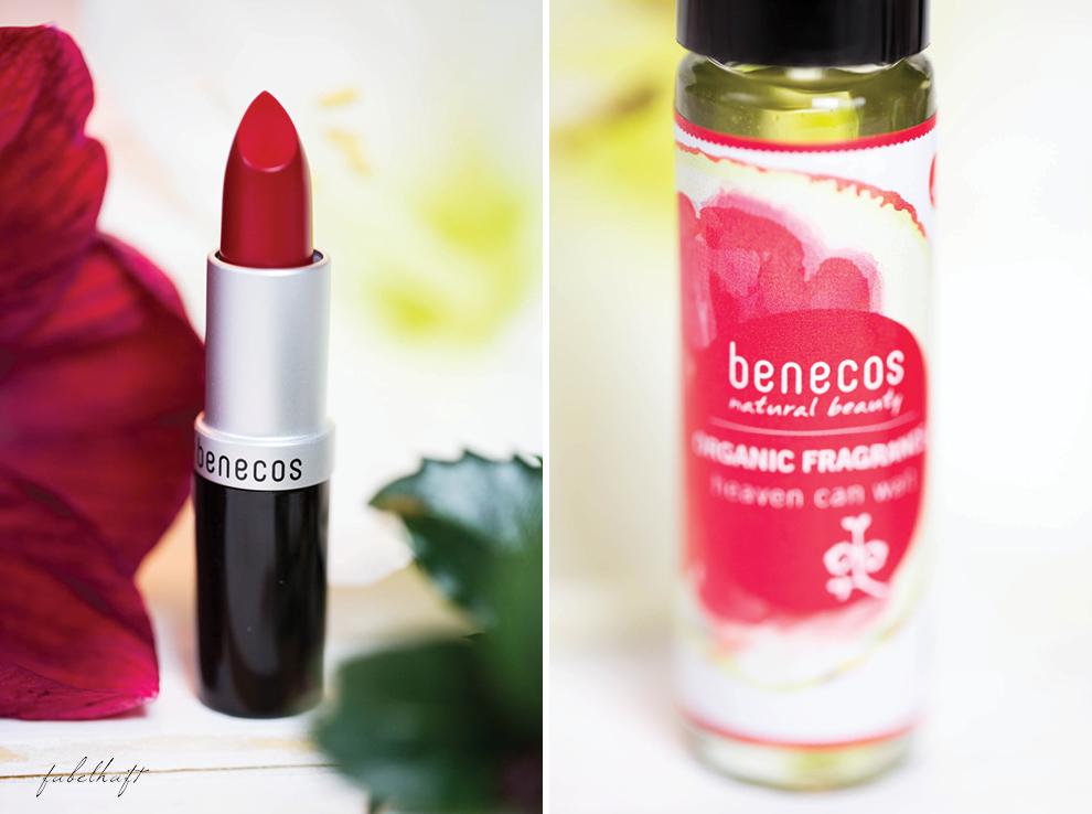 Weihnachtsgeschenk Gift Naturkosmetik Benecos Red Lips Parfum Weihnachtsset