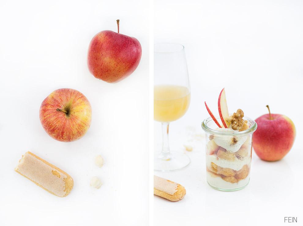 Apfelsaft Apfeltiramisu