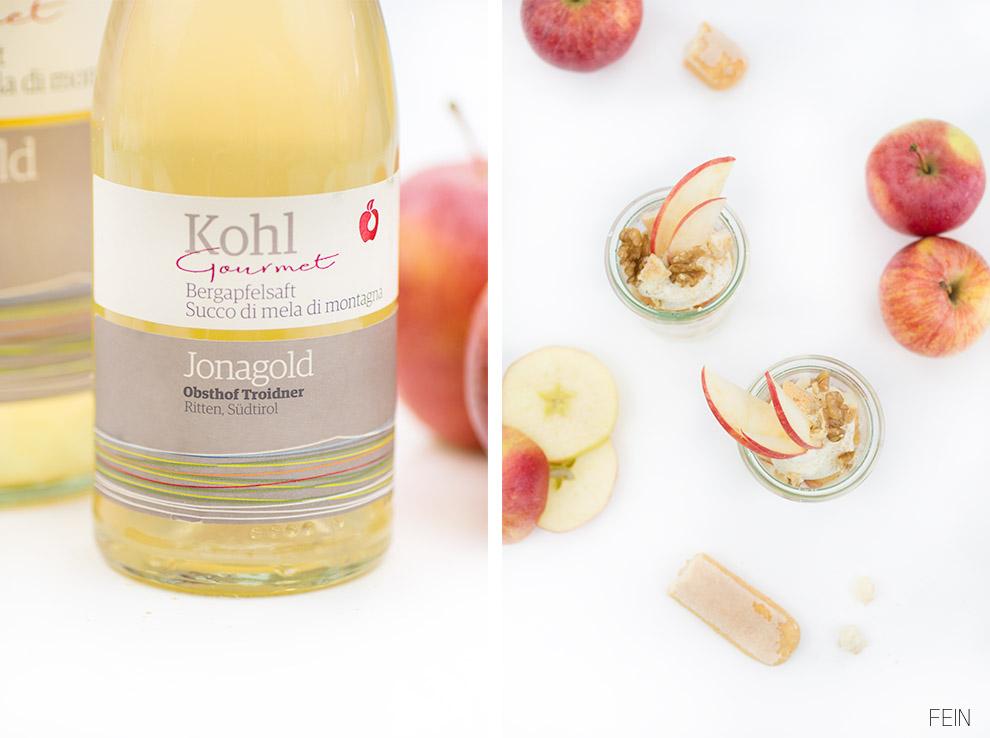 Apfelsaft Jonagold Menü